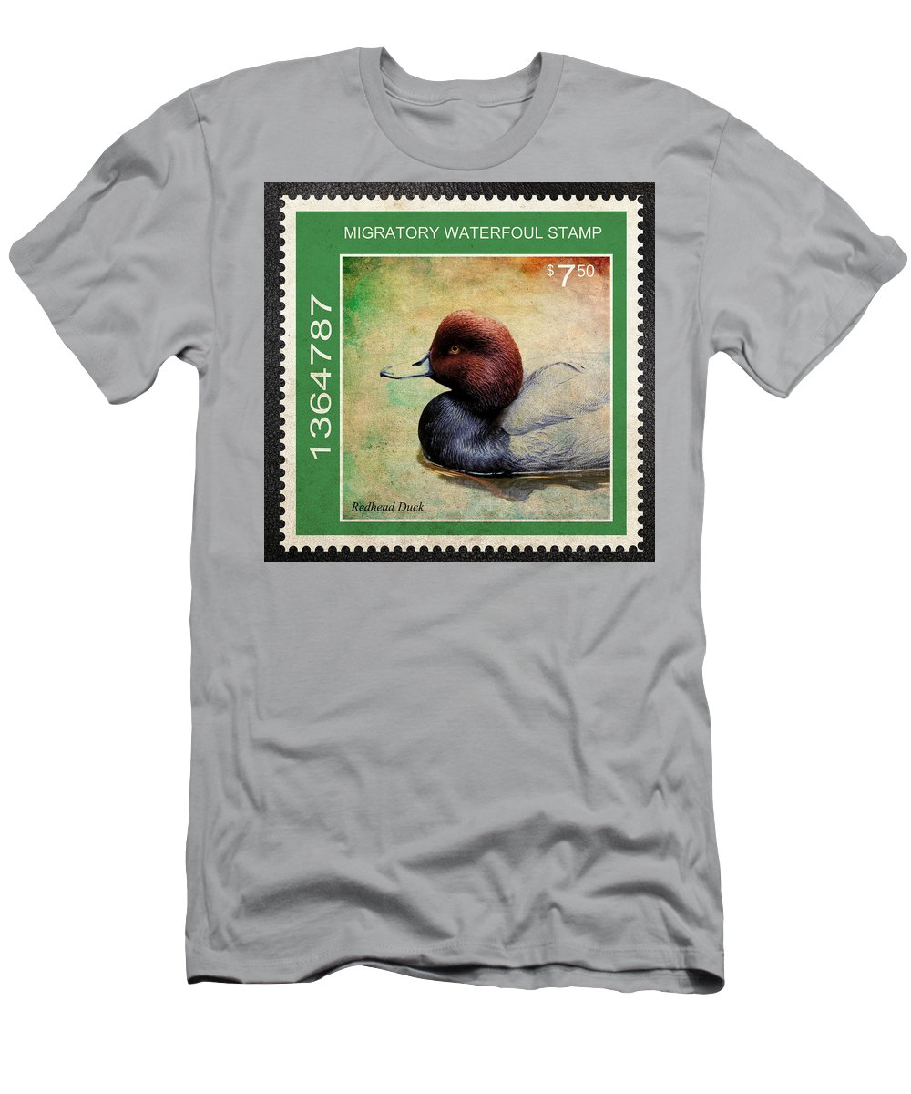Drakes Men's T-Shirt (Athletic Fit) featuring the photograph Bird Stamp by Steve McKinzie