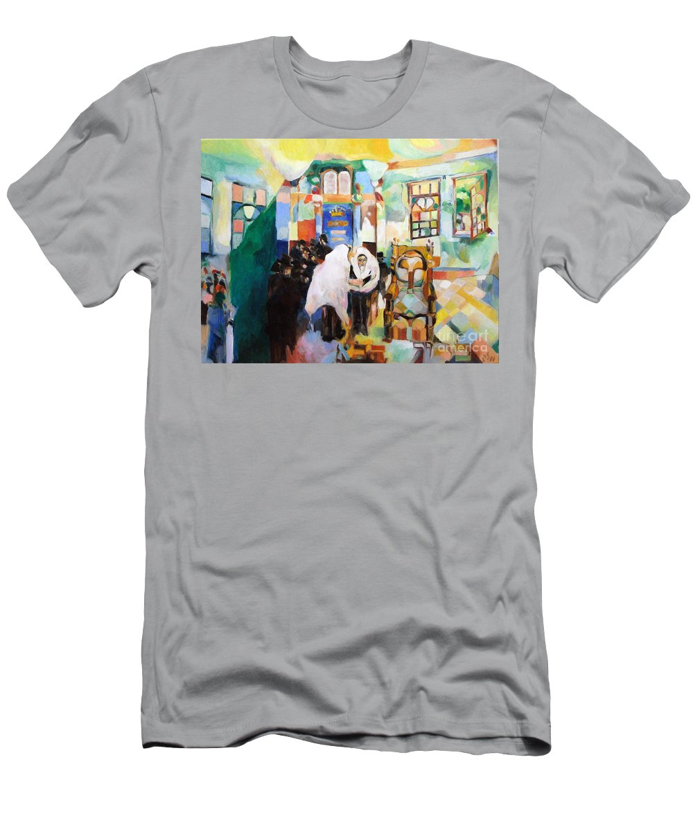 Men's T-Shirt (Athletic Fit) featuring the painting Blessed Is He Who Has Come by David Baruch Wolk