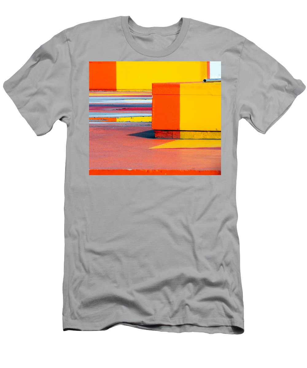 London Men's T-Shirt (Athletic Fit) featuring the photograph Blocks by A Rey