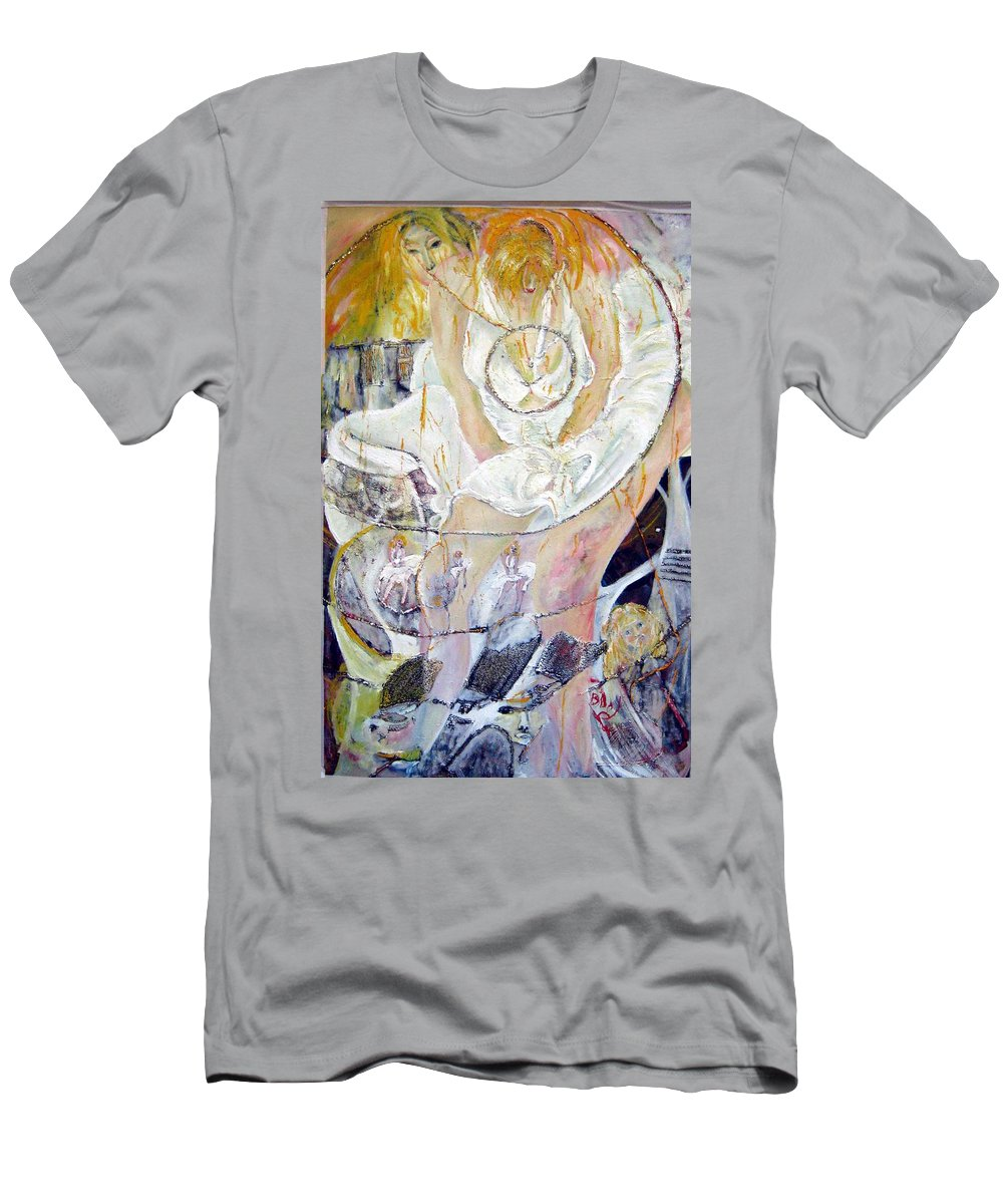 Figurative T-Shirt featuring the painting Blondie  by Peggy Blood