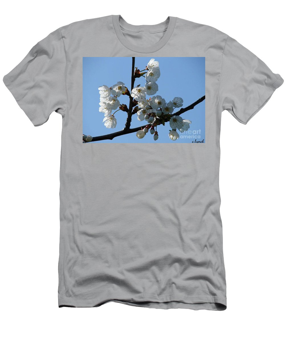 Blossoms Men's T-Shirt (Athletic Fit) featuring the photograph Blossoms by Carol Lynch