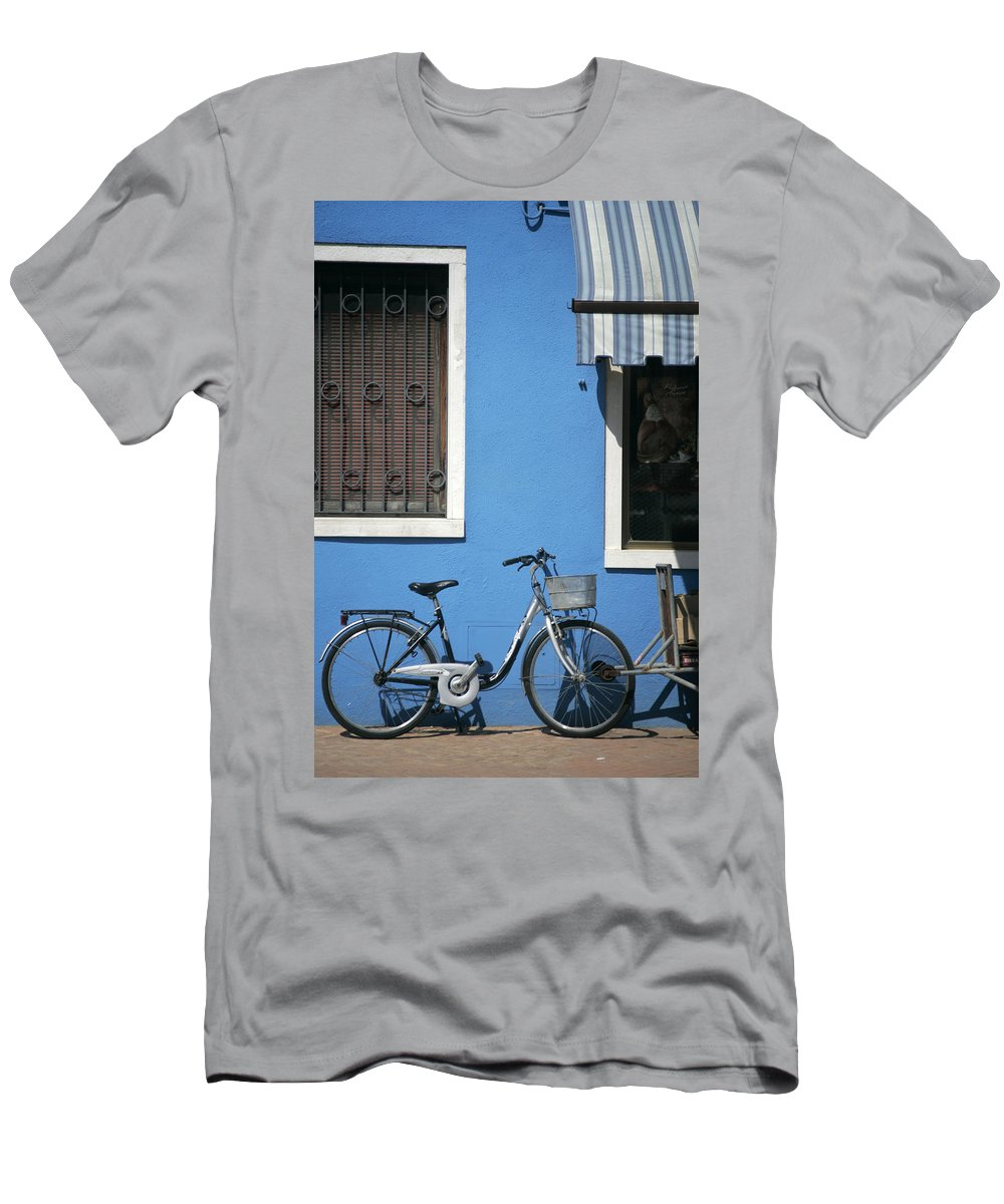 Burano Men's T-Shirt (Athletic Fit) featuring the photograph Blue by Christopher Rees