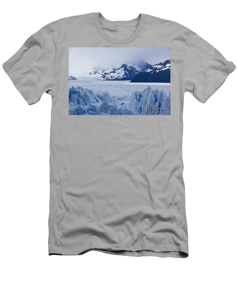 Argentina Men's T-Shirt (Athletic Fit) featuring the photograph Blue Ice by Michele Burgess