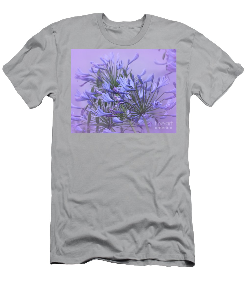 Agapanthus Men's T-Shirt (Athletic Fit) featuring the photograph Blue Mist by Judi Bagwell