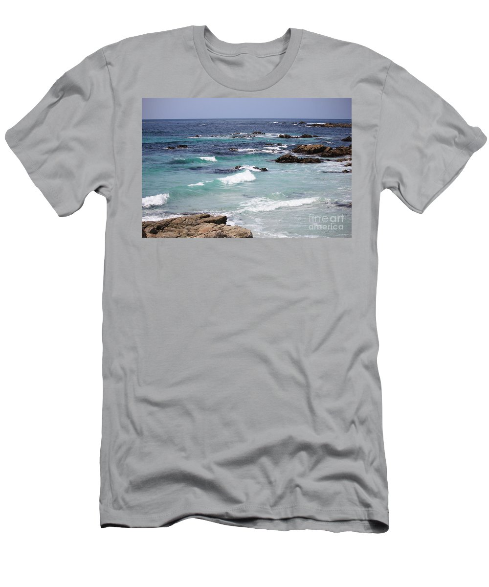 Blue Surf Men's T-Shirt (Athletic Fit) featuring the photograph Blue Surf by Carol Groenen