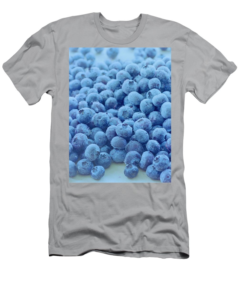 Berries Men's T-Shirt (Athletic Fit) featuring the photograph Blueberries by Romulo Yanes