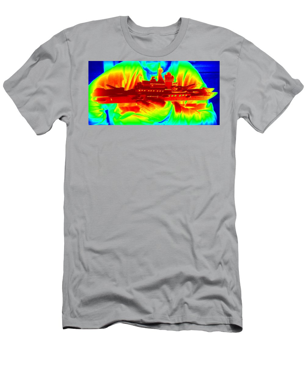 Man Men's T-Shirt (Athletic Fit) featuring the photograph Boat Builder 2 by Pamela Hyde Wilson