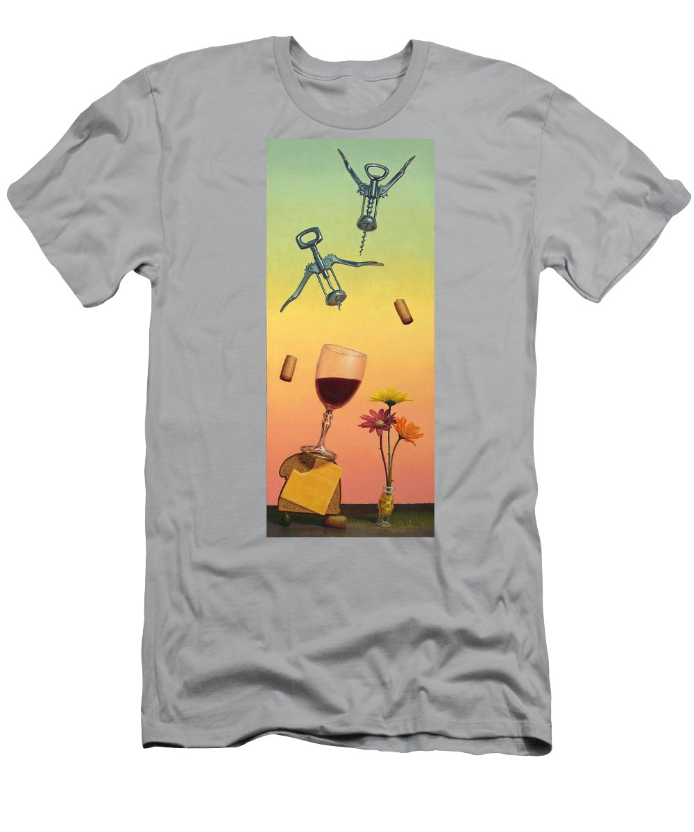 Still-life Men's T-Shirt (Athletic Fit) featuring the painting Body And Soul by James W Johnson