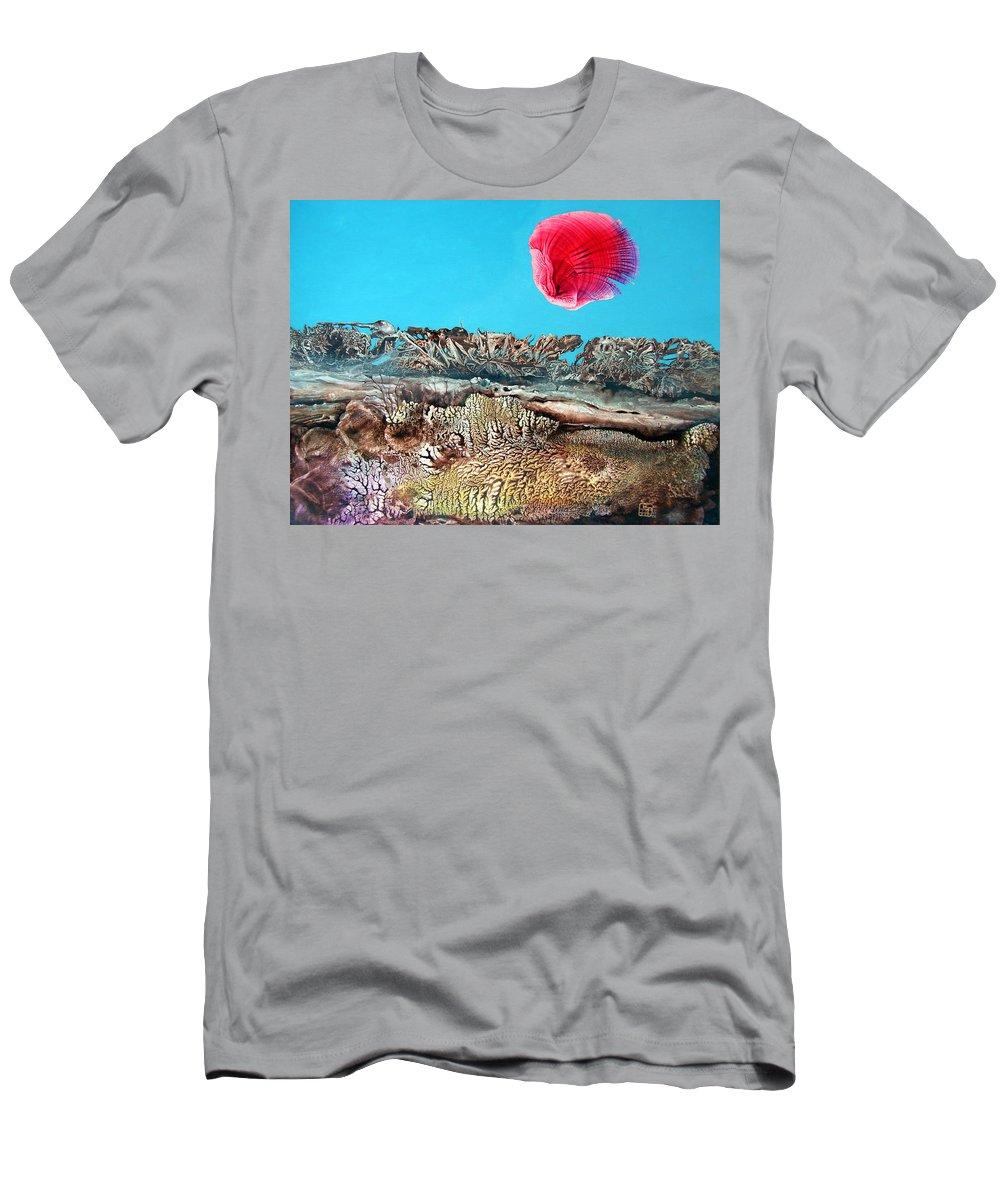 Decalcomania T-Shirt featuring the painting Bogomil Sunrise 2 by Otto Rapp