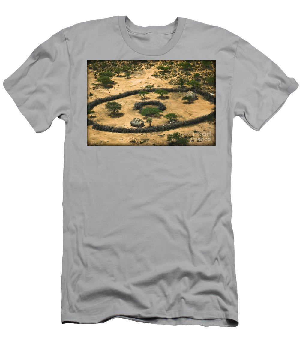 Boma Men's T-Shirt (Athletic Fit) featuring the photograph Boma On The Range by Gary Keesler