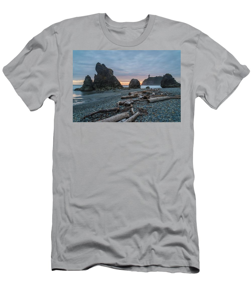 Olympic National Park Men's T-Shirt (Athletic Fit) featuring the photograph Bone Yard by Kristopher Schoenleber