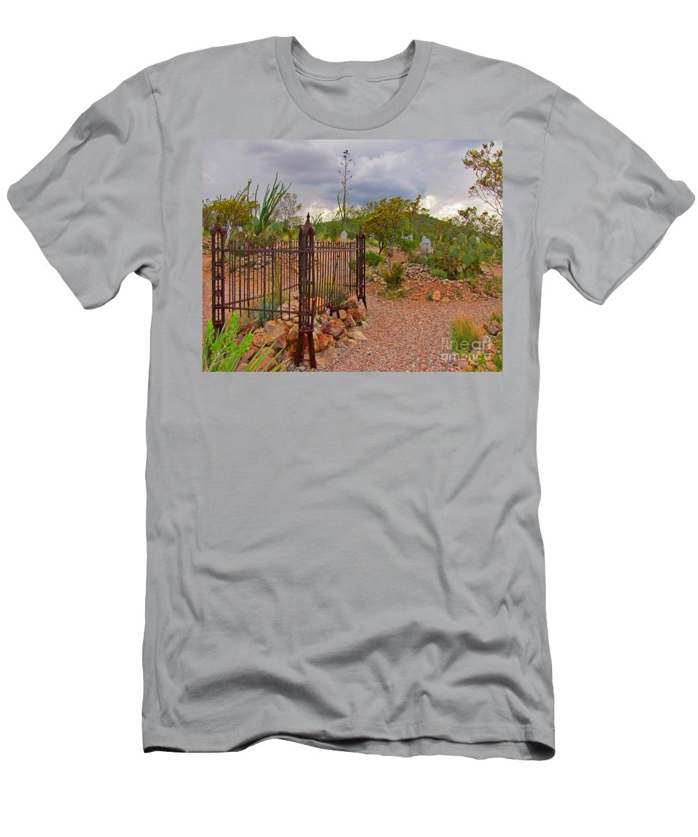 Boothill Cemetary Image Men's T-Shirt (Athletic Fit) featuring the photograph Boothill Cemetary Image by John Malone