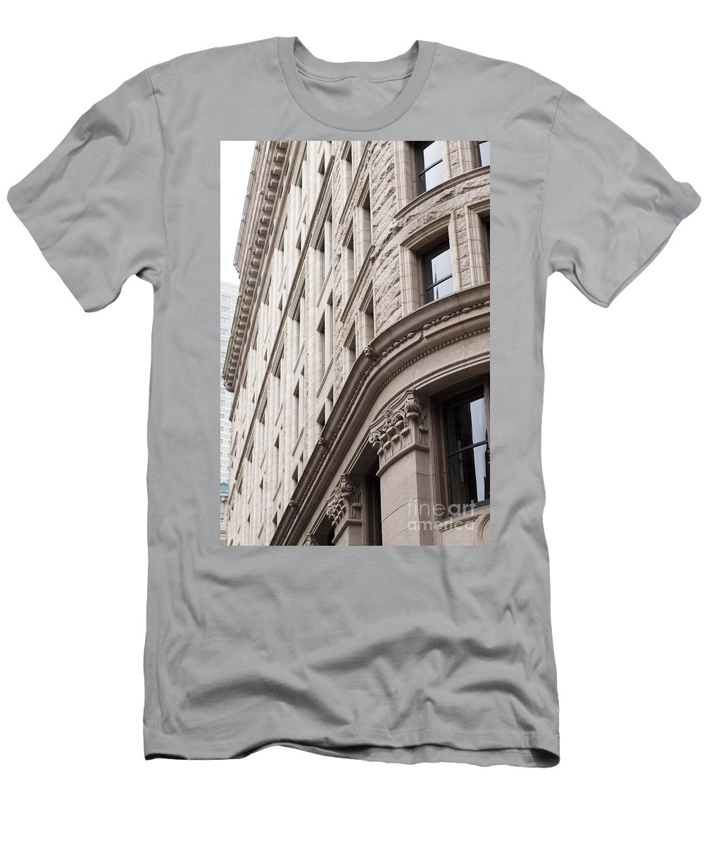 Men's T-Shirt (Athletic Fit) featuring the photograph Boston Building by Sara Schroeder
