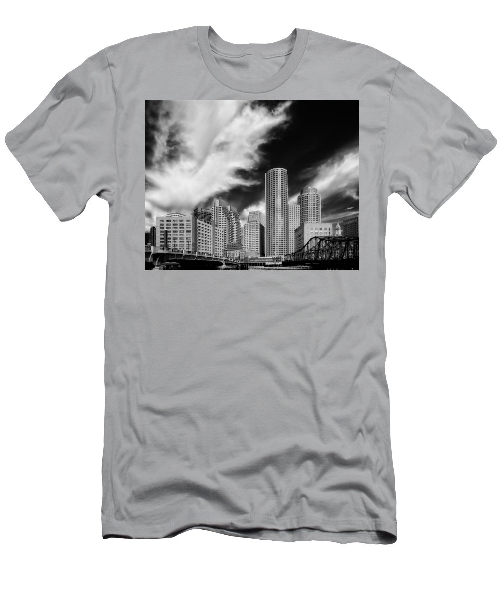 Boston Men's T-Shirt (Athletic Fit) featuring the photograph Boston Skyline by Mountain Dreams