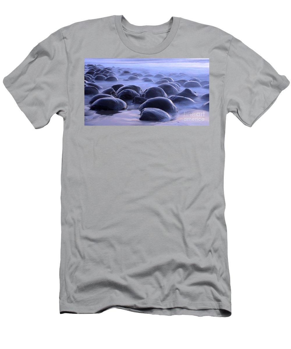Bowling Ball Beach Men's T-Shirt (Athletic Fit) featuring the photograph Bowling Ball Beach California by Bob Christopher
