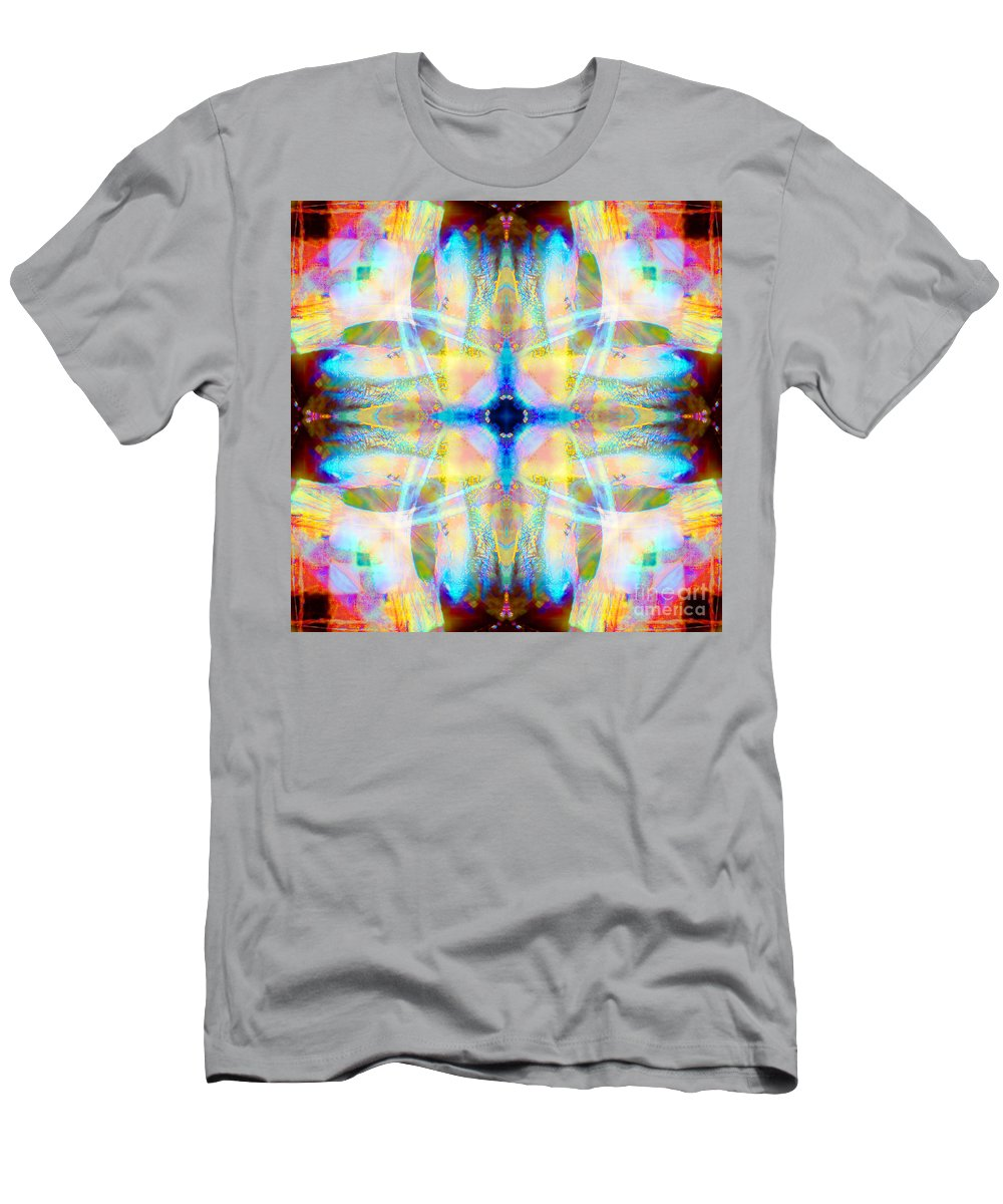 Rainbow Men's T-Shirt (Athletic Fit) featuring the photograph Brainbow Mandala by Susan Bloom
