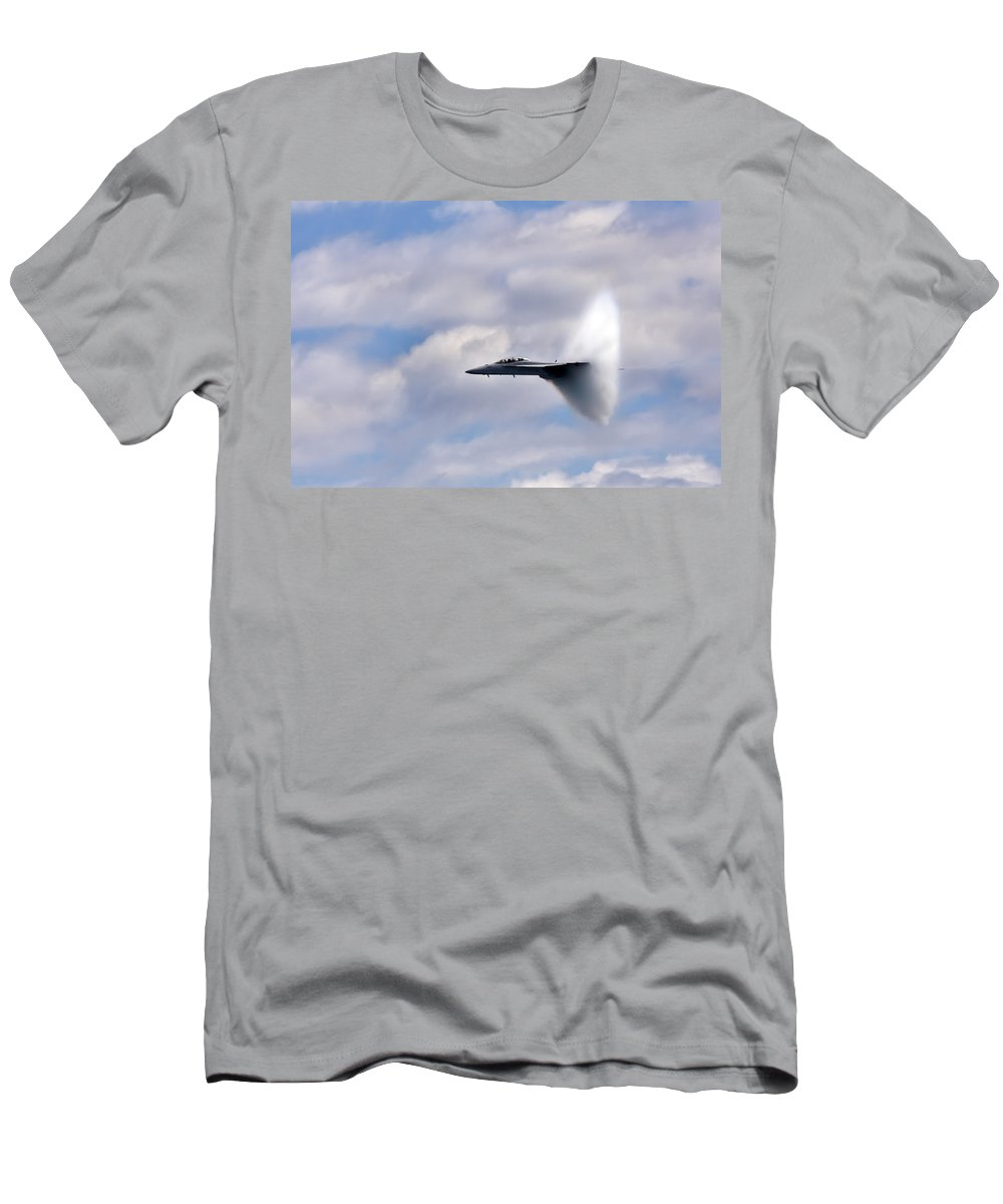 3scape Photos Men's T-Shirt (Athletic Fit) featuring the photograph Breaking Through by Adam Romanowicz