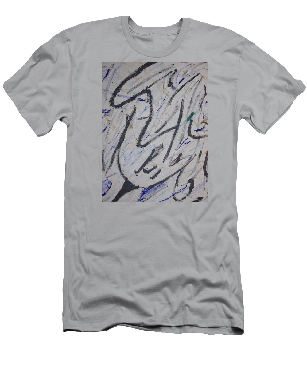 Simple T-Shirt featuring the painting Breezy by Dean Stephens
