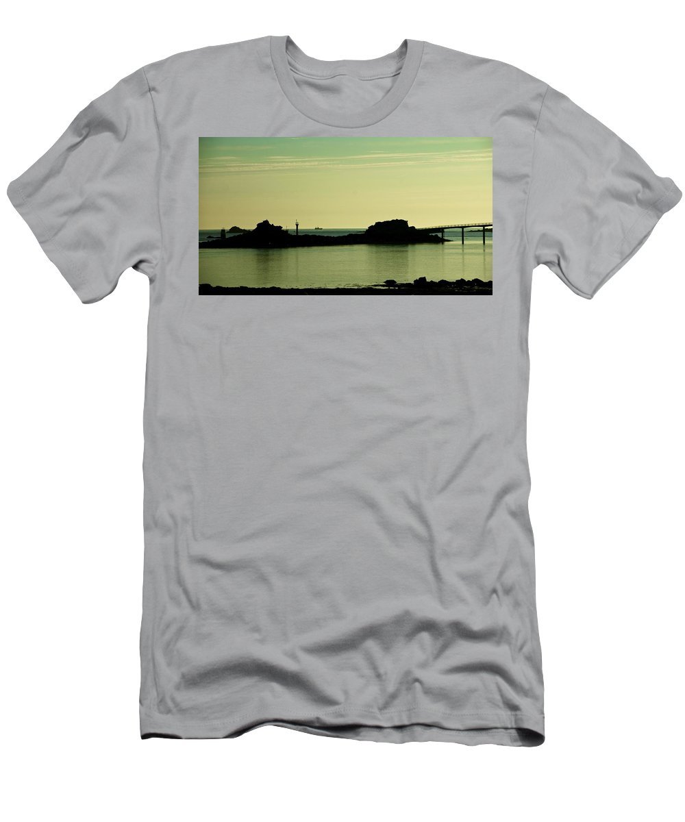 Brittany Men's T-Shirt (Athletic Fit) featuring the photograph Bretagne Low Tide by Eric Tressler