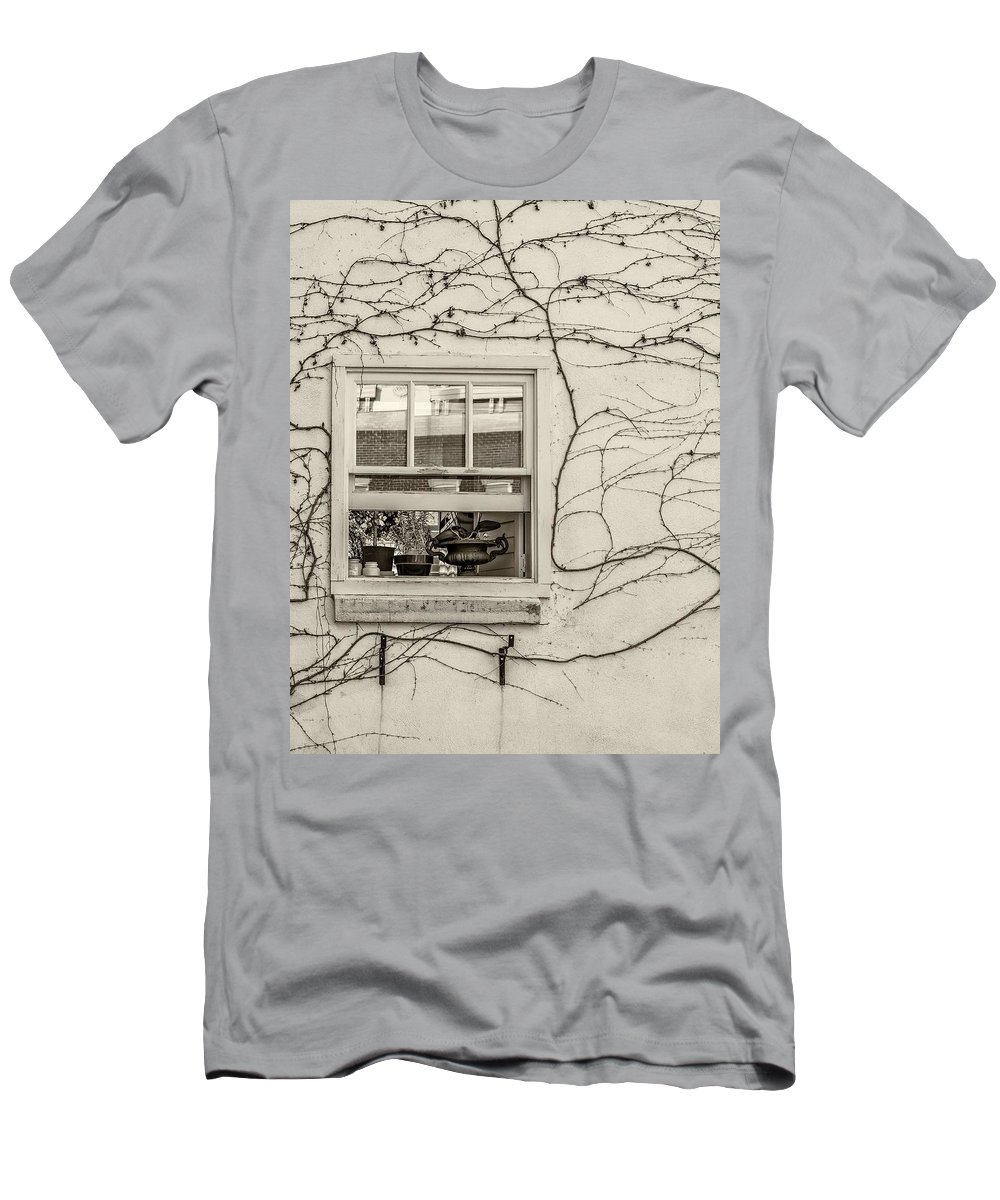 Spring Men's T-Shirt (Athletic Fit) featuring the photograph Bring On Spring Sepia by Steve Harrington