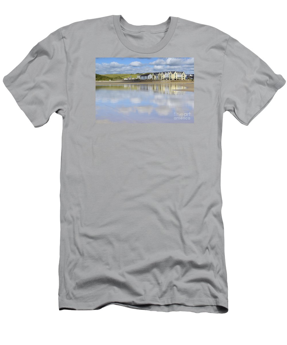 Doug Men's T-Shirt (Athletic Fit) featuring the photograph Broad Haven Clouds by Doug Wilton