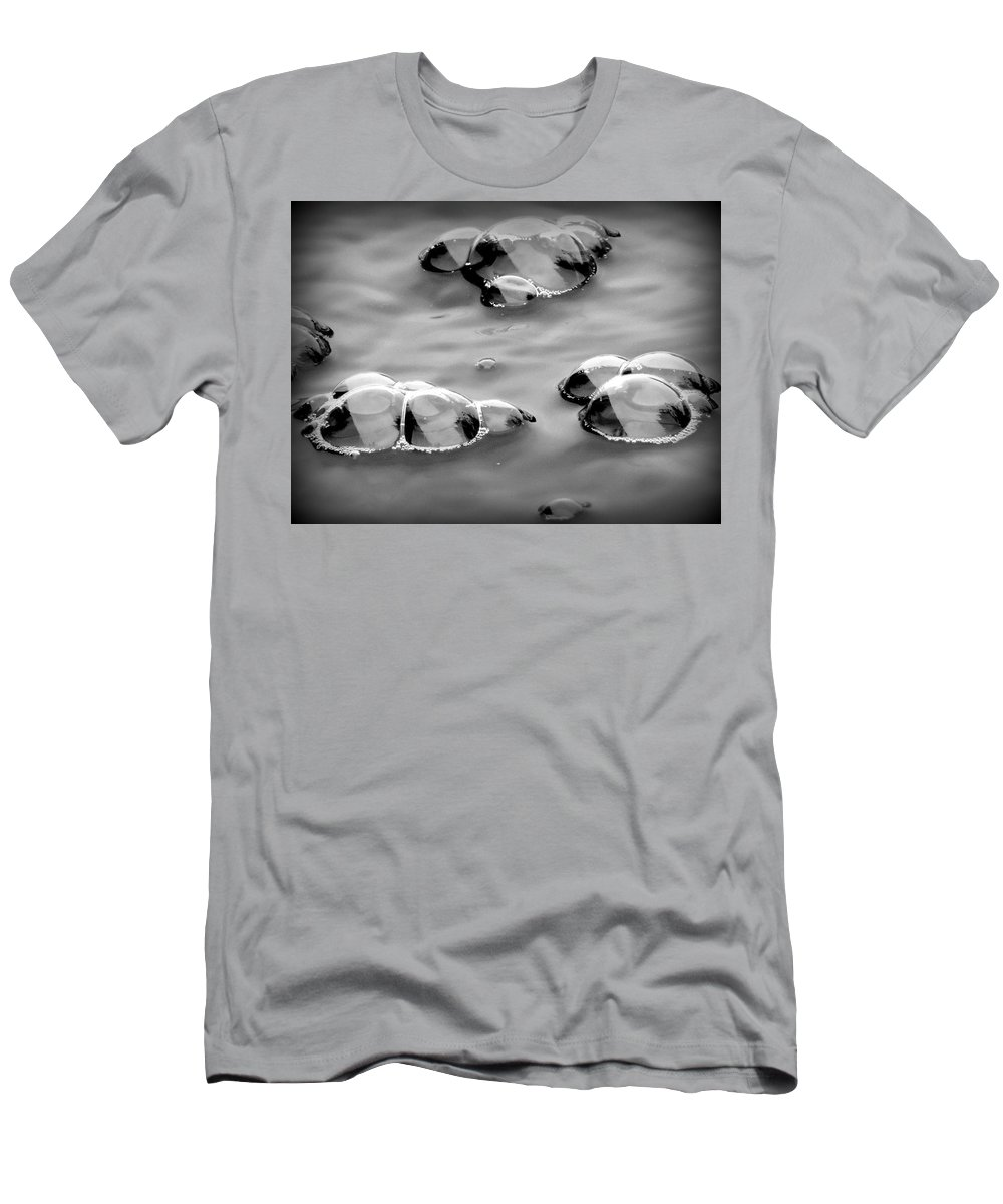 Bubble Men's T-Shirt (Athletic Fit) featuring the photograph Bubbles 1 by Lynn Sprowl