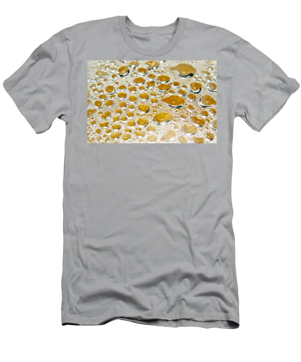 Bubble Men's T-Shirt (Athletic Fit) featuring the photograph Bubbles Of Steam Amber by Ausra Huntington nee Paulauskaite