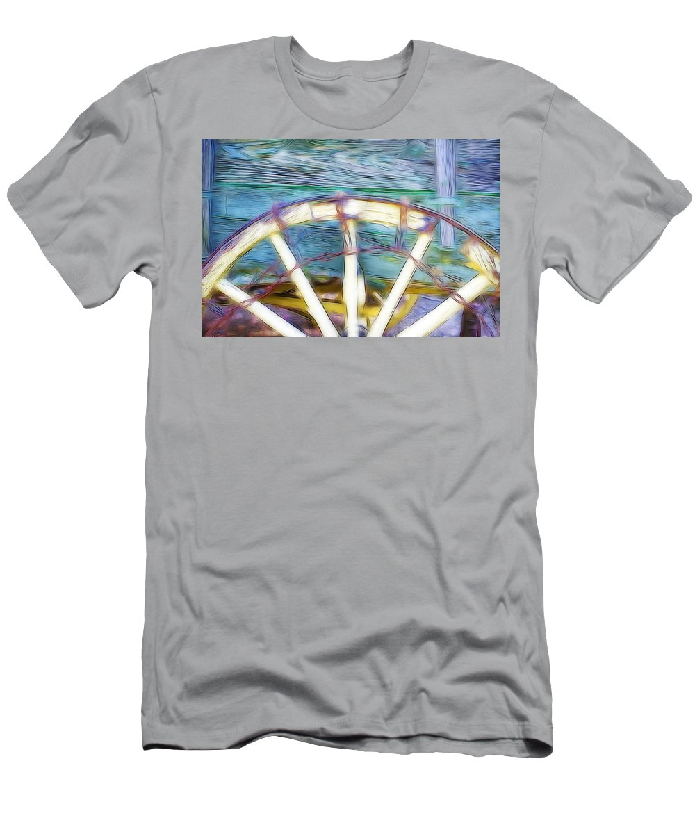 Wagon Men's T-Shirt (Athletic Fit) featuring the photograph Buckboard by Hugh Smith