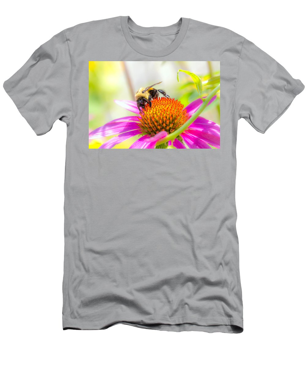 Bees Men's T-Shirt (Athletic Fit) featuring the photograph Bumble Bee by Bob Orsillo