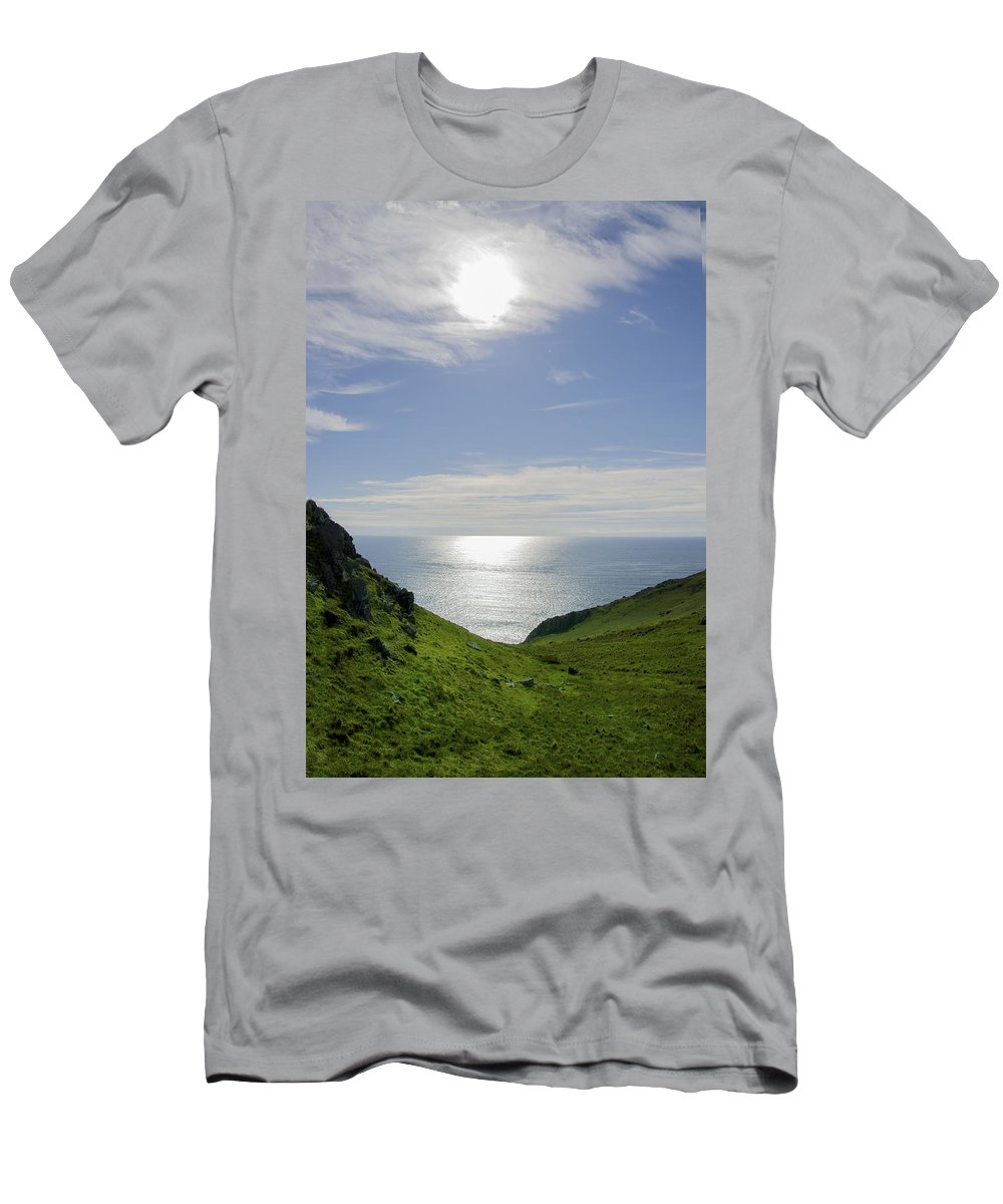 Bunglass Men's T-Shirt (Athletic Fit) featuring the photograph Bunglass - Donegal Ireland by Bill Cannon