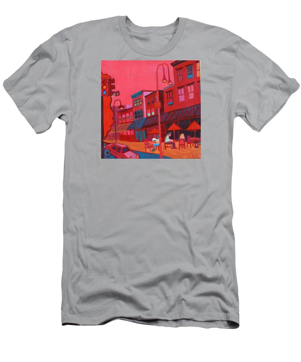 Vermont T-Shirt featuring the painting Burlington VT cafe by Debra Bretton Robinson