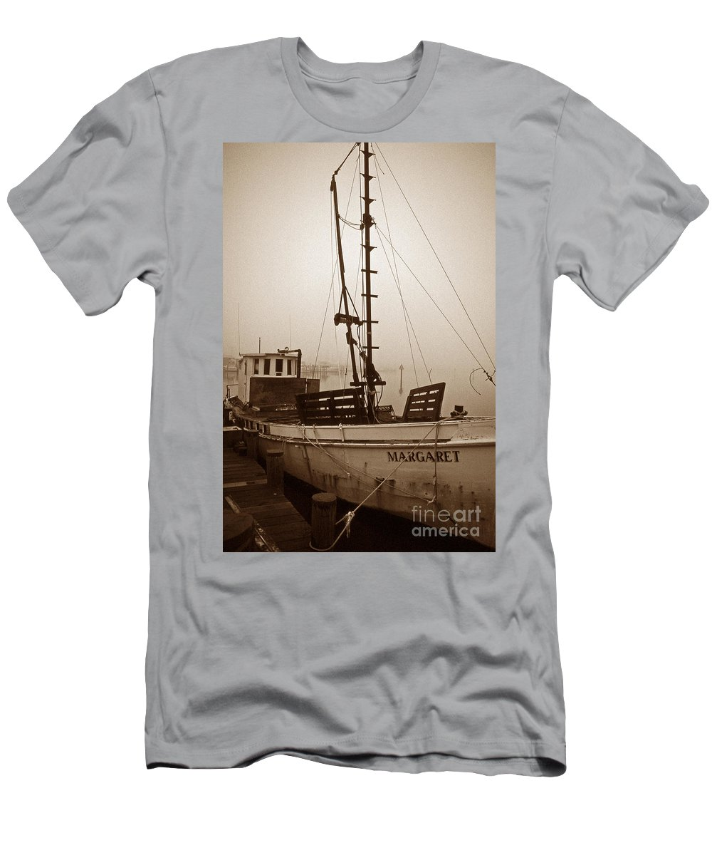 Maritime Men's T-Shirt (Athletic Fit) featuring the photograph Buy Boat Margaret by Skip Willits