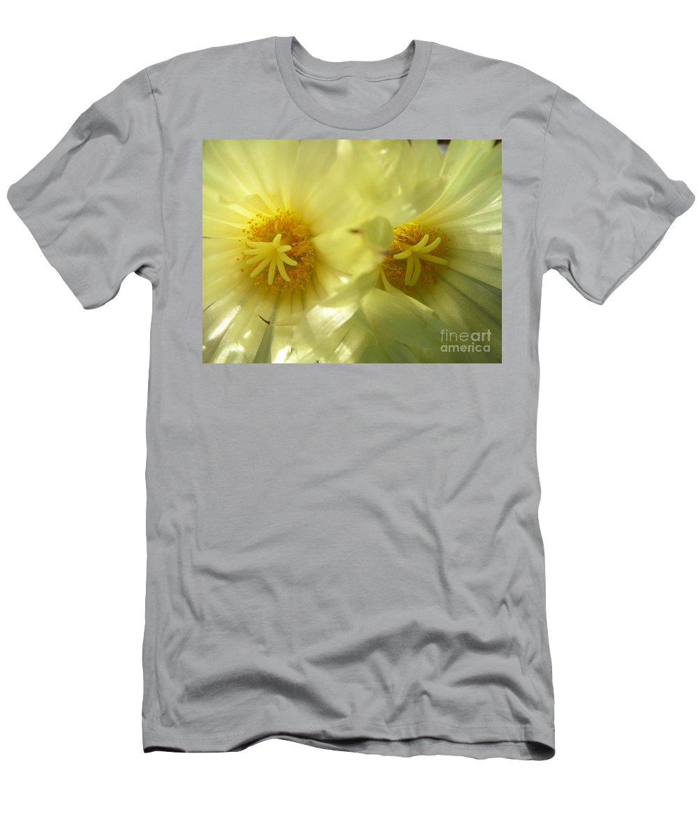 Cactus Men's T-Shirt (Athletic Fit) featuring the photograph Cactus Flowers by Kerstin Ivarsson