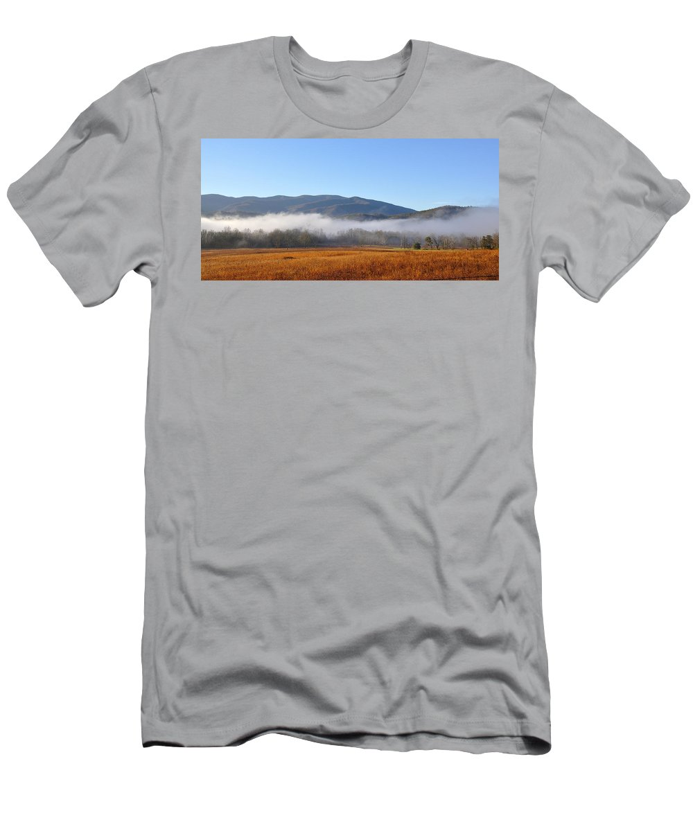 Cades Cove Men's T-Shirt (Athletic Fit) featuring the photograph Cades Cove 1 by Todd Hostetter