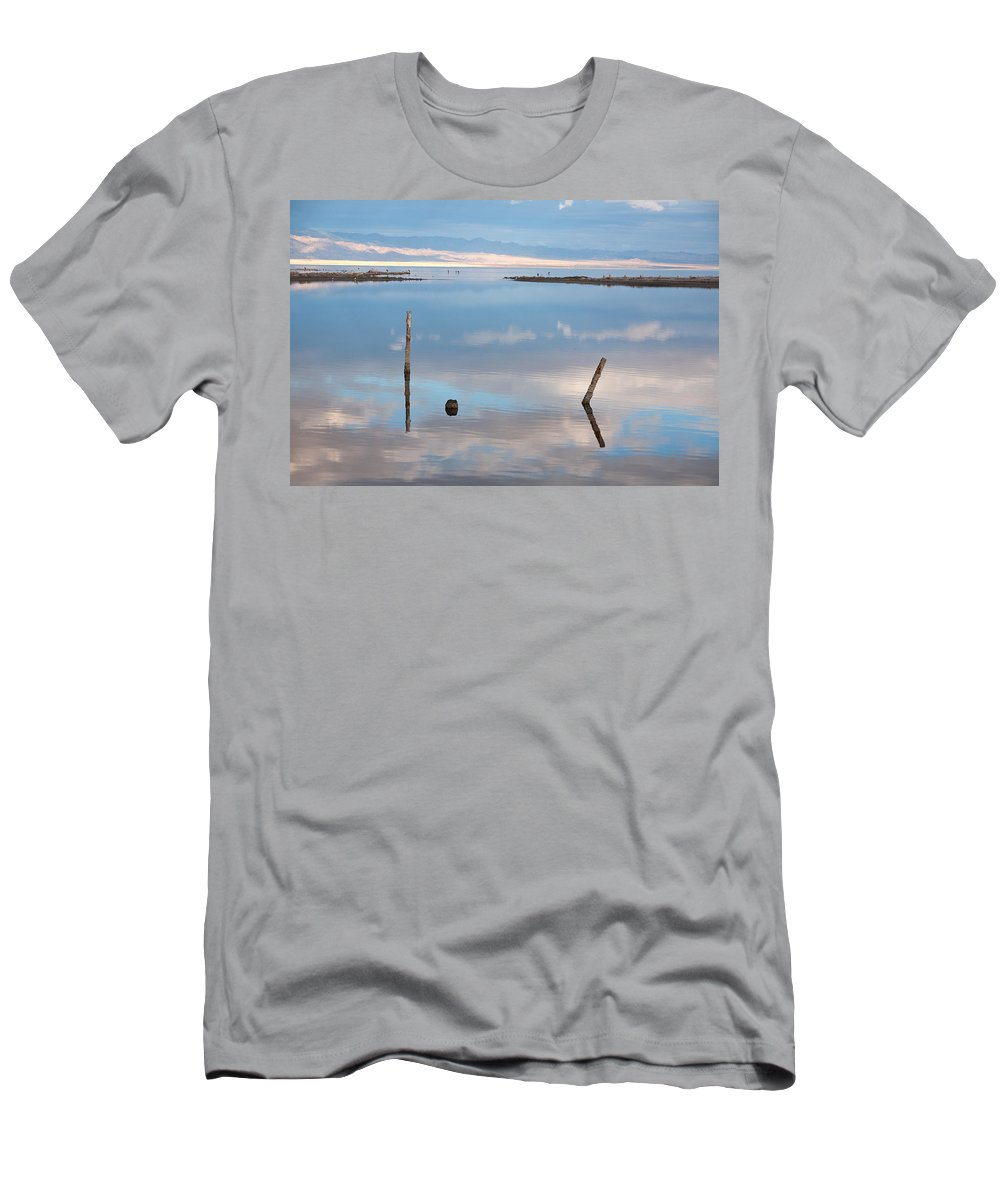 Big Sky Men's T-Shirt (Athletic Fit) featuring the photograph Calm by Peter Tellone