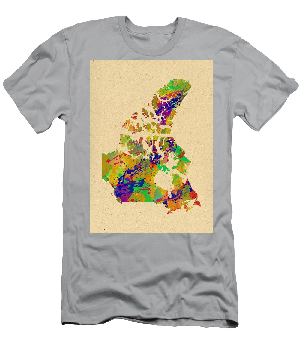 Canada Men's T-Shirt (Athletic Fit) featuring the photograph Canada Watercolor by Chris Smith