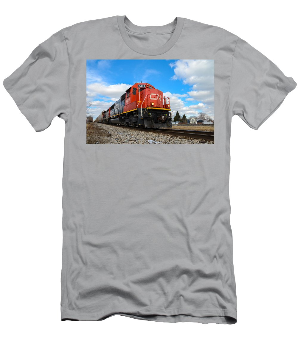 Canadian National Men's T-Shirt (Athletic Fit) featuring the photograph Canadian National by Gales Of November