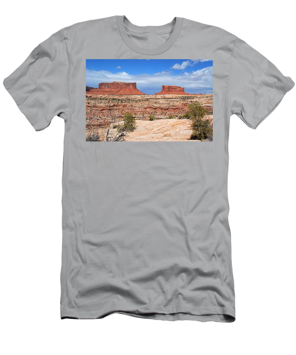 Canyonlands Men's T-Shirt (Athletic Fit) featuring the photograph Canyonlands Utah Landscape by Cascade Colors