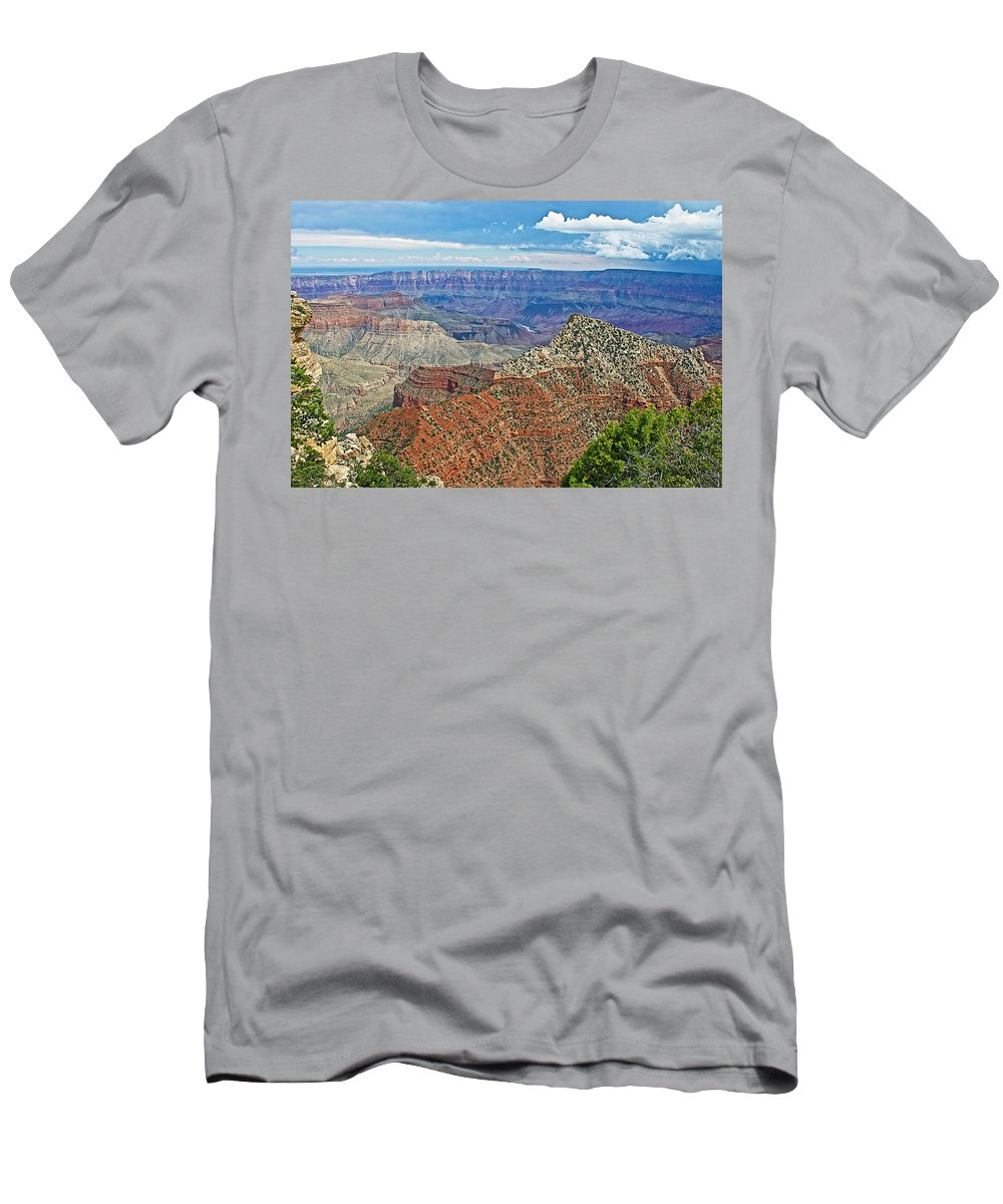 Cape Royal Two On North Rim/grand Canyon National Park Men's T-Shirt (Athletic Fit) featuring the photograph Cape Royal Two On North Rim Of Grand Canyon-arizona by Ruth Hager