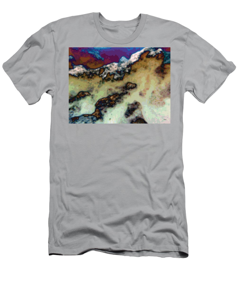 Abstract Men's T-Shirt (Athletic Fit) featuring the digital art Capped by James Kramer