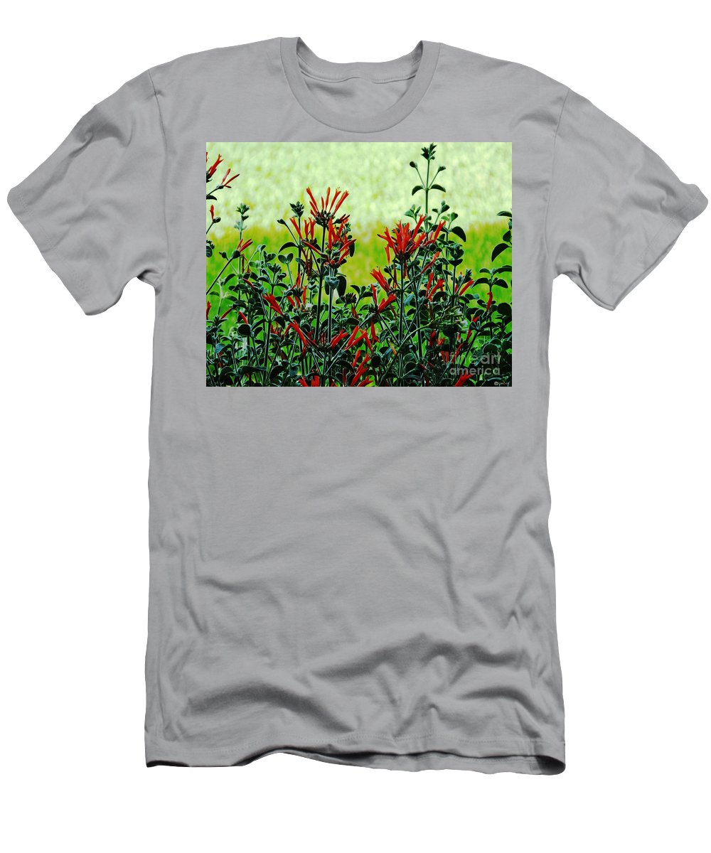 Red Men's T-Shirt (Athletic Fit) featuring the photograph Cardinal Flowers by Lizi Beard-Ward