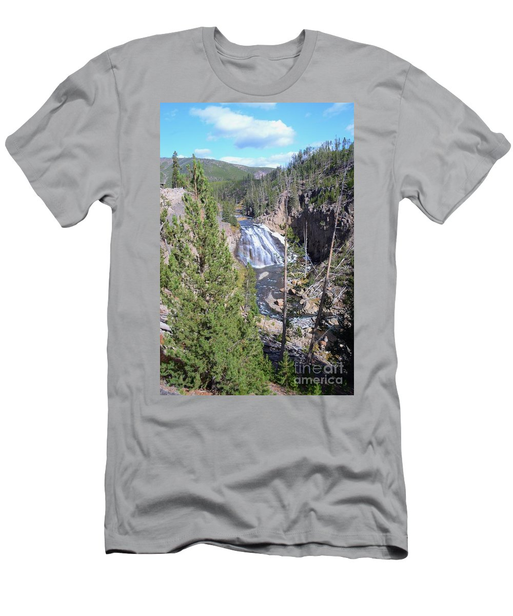 Cascade Men's T-Shirt (Athletic Fit) featuring the photograph Cascade Canyon by Kathleen Struckle