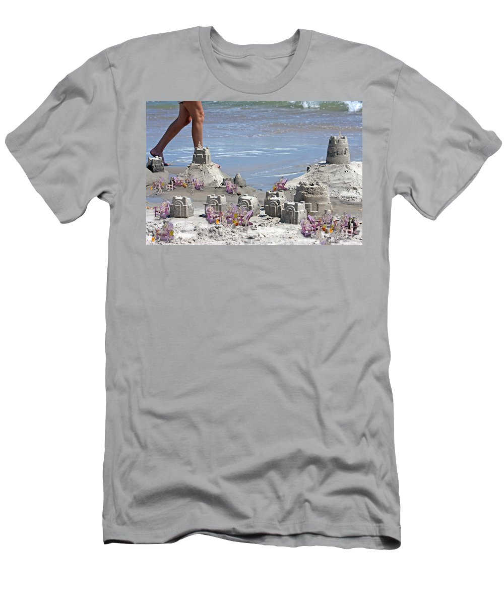 Sandcastle Men's T-Shirt (Athletic Fit) featuring the digital art Castle Kingdom by Betsy Knapp