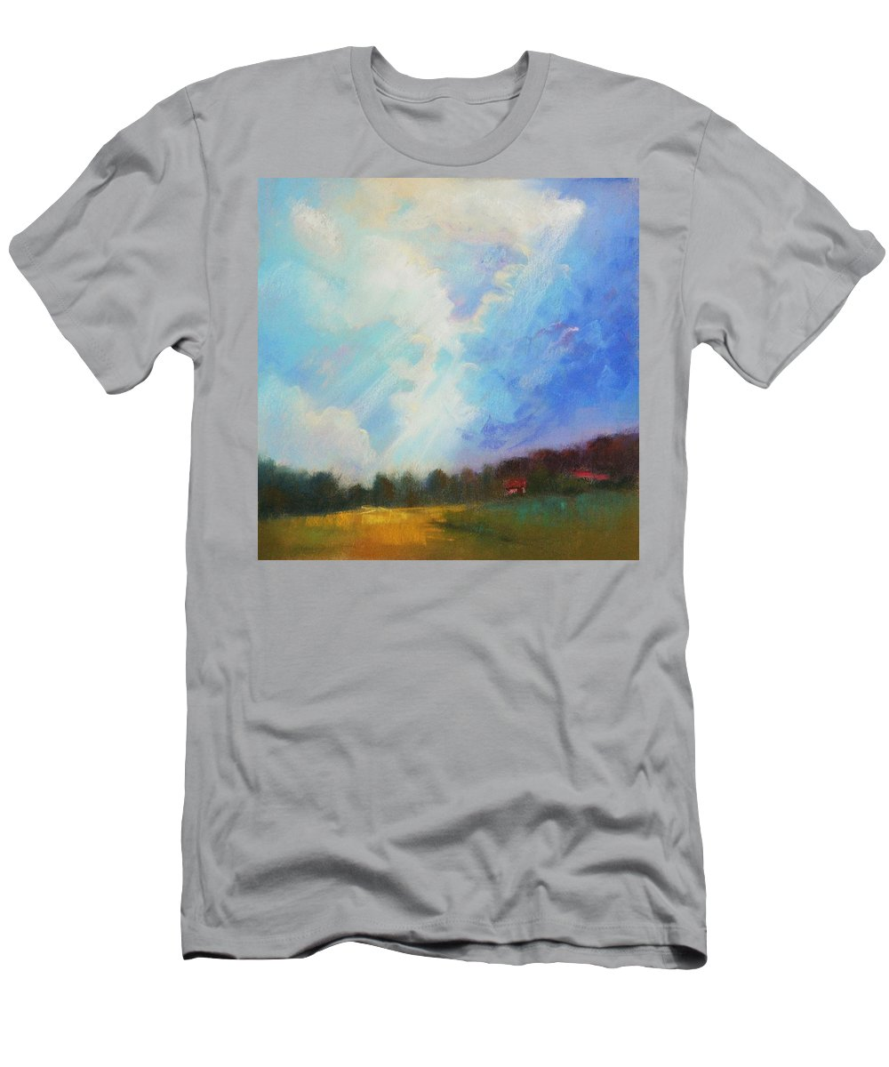 Landscape Men's T-Shirt (Athletic Fit) featuring the painting Catch The Light by Celine K Yong