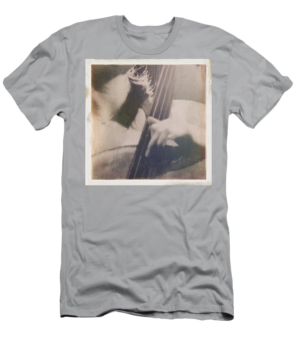 Music Men's T-Shirt (Athletic Fit) featuring the photograph Cello Player by H James Hoff