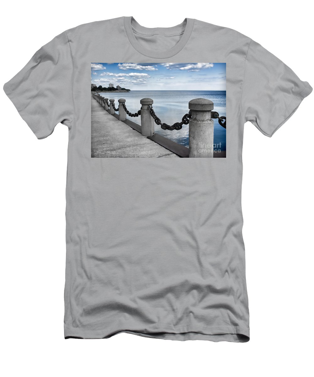 Chain Link Men's T-Shirt (Athletic Fit) featuring the photograph Chain Linked by Barbara McMahon