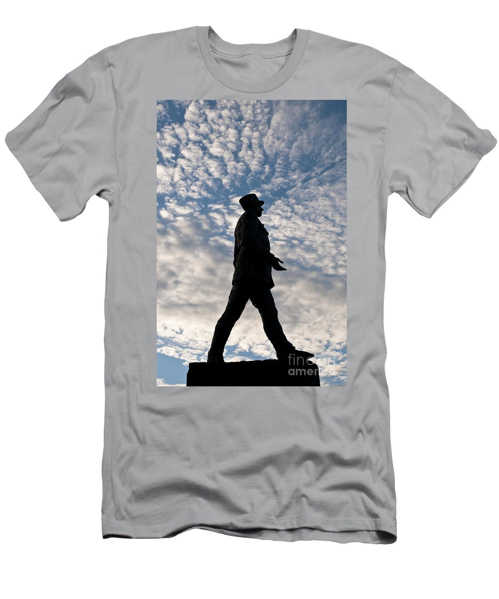 Europe Men's T-Shirt (Athletic Fit) featuring the photograph Charles De Gaulle by Lana Enderle
