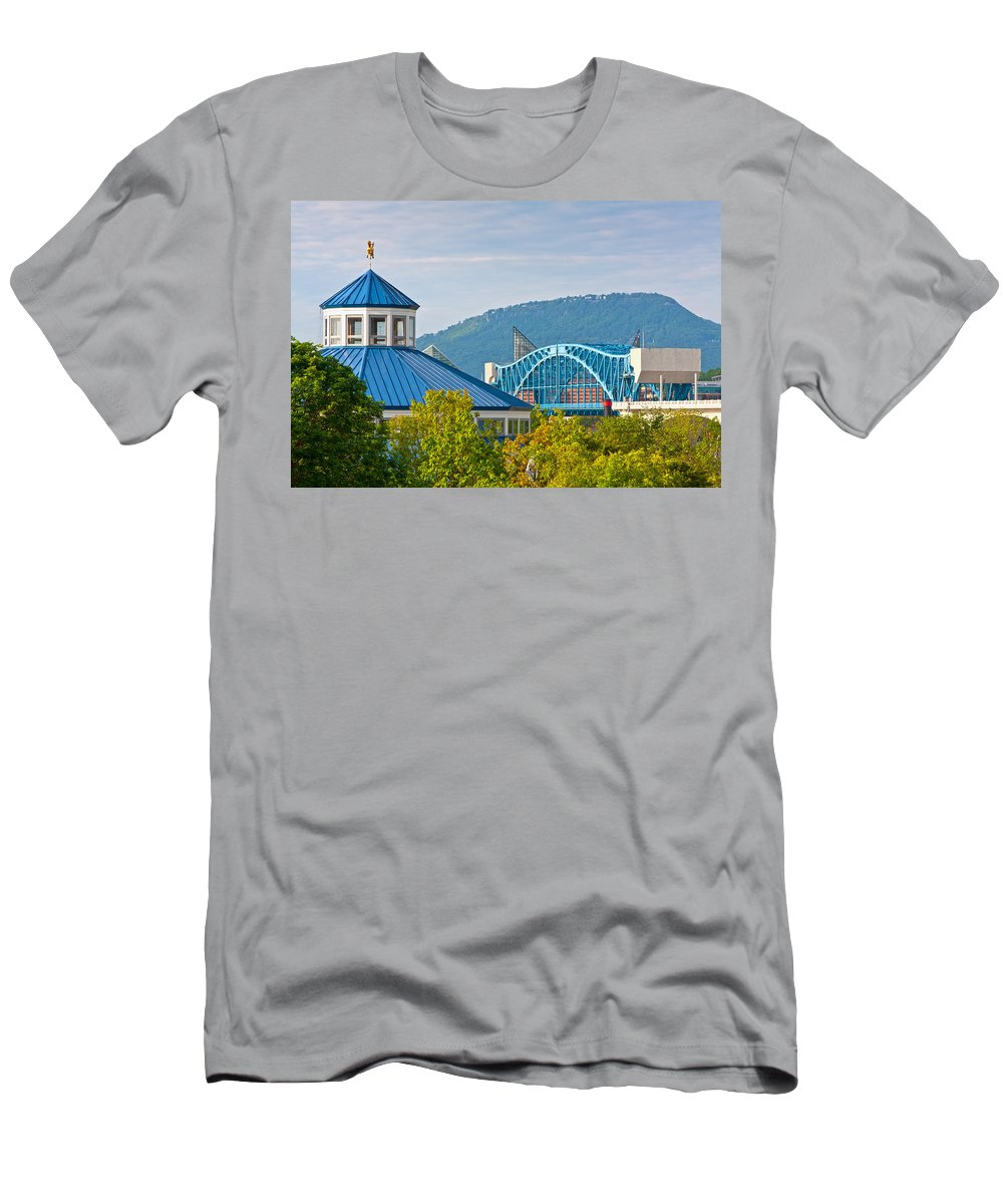 Chattanooga Men's T-Shirt (Athletic Fit) featuring the photograph Chattanooga View by Melinda Fawver