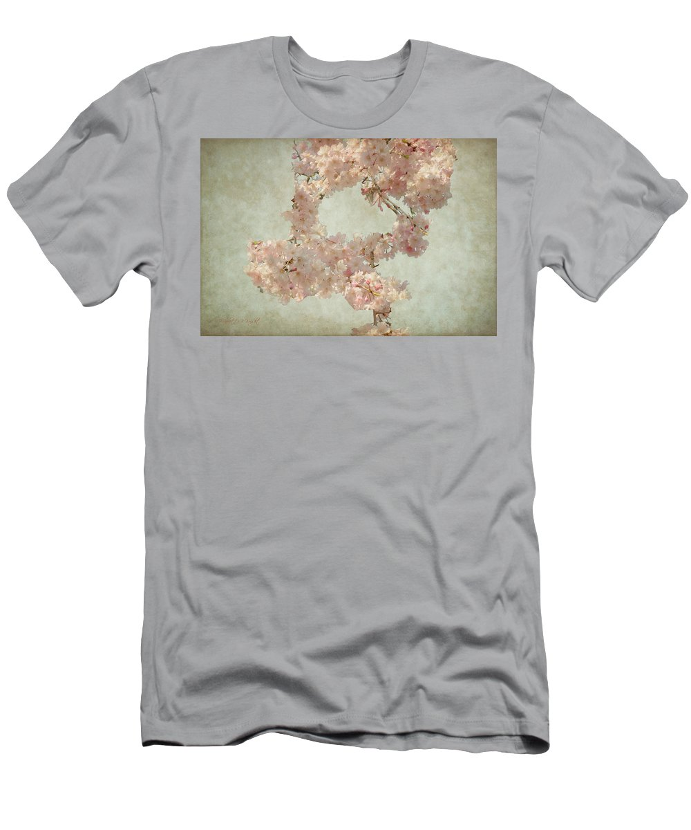 Popular Men's T-Shirt (Athletic Fit) featuring the photograph Cherry Blossom Bridal Bouquet by Paulette B Wright