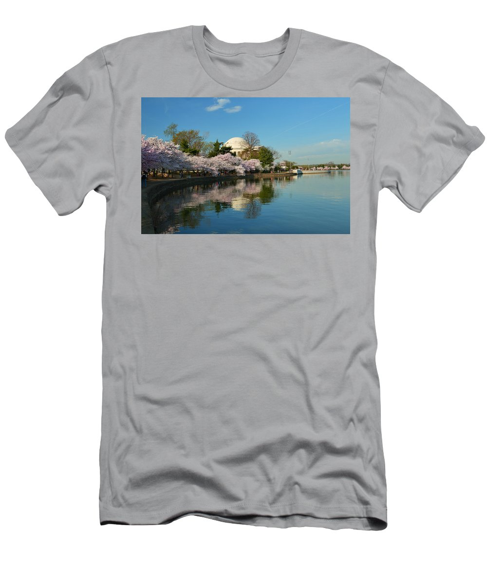 Architectural Men's T-Shirt (Athletic Fit) featuring the photograph Cherry Blossoms 2013 - 041 by Metro DC Photography
